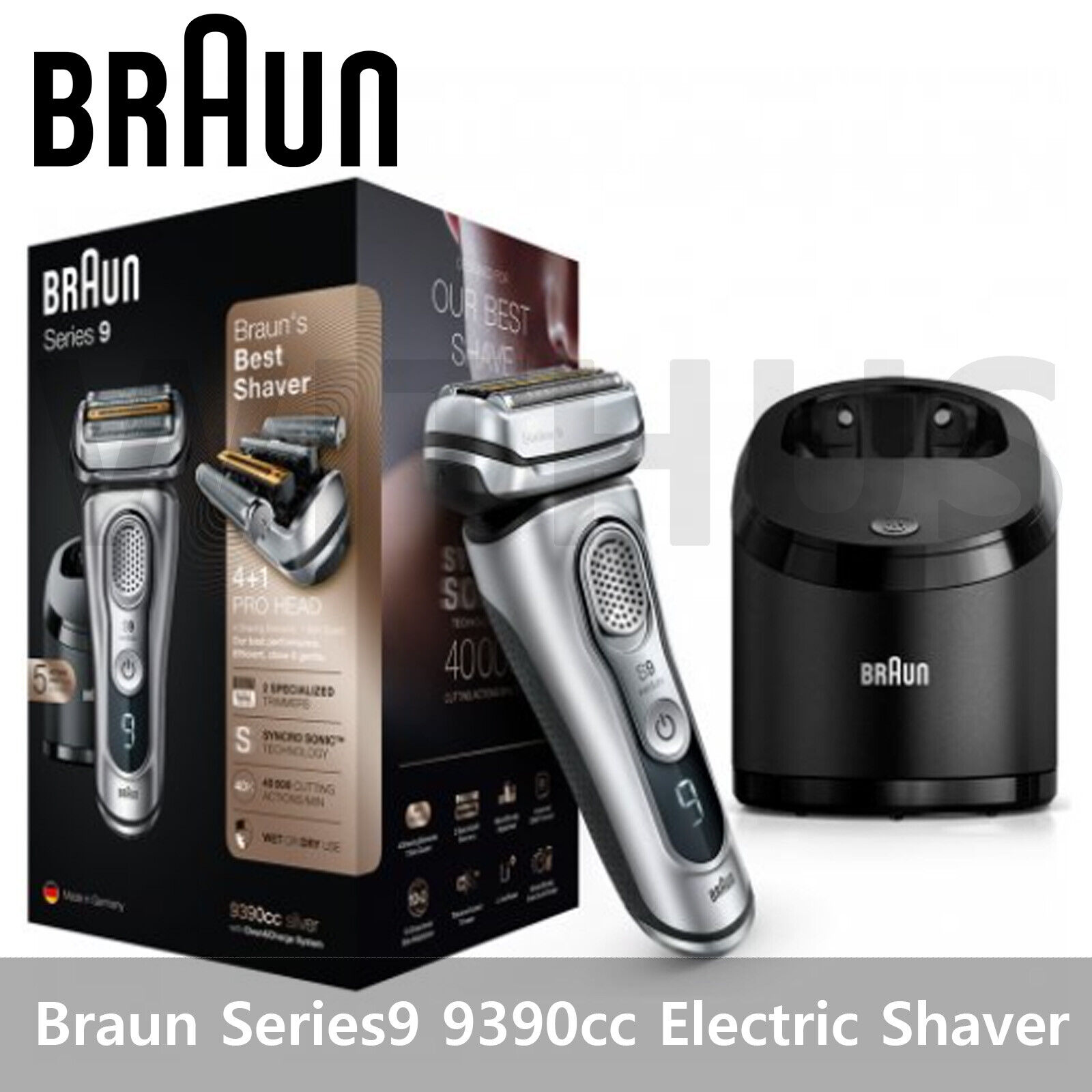 Braun Series 9 9390cc Men's Electric Shaver Wet & Dry | eBay