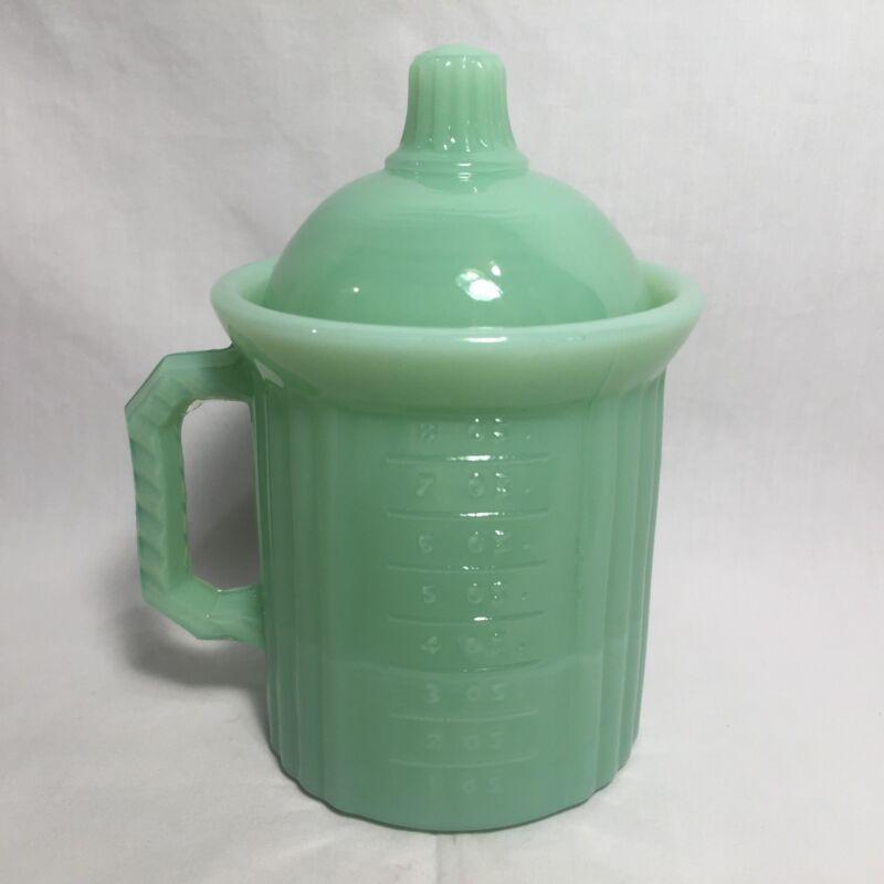 Mosser Glass Jade Green Measuring Jar Kitchen Jadeite Cup Ounce