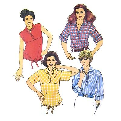 1970s Vintage Butterick Sewing Pattern 5934 Easy Pullover Top Shirt 8 UNCUT FF