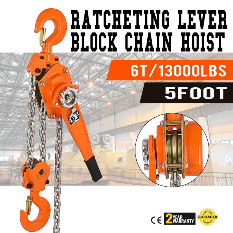 Lever Block Chain Hoist 6T 1.5M/5ft Chain Hoist Ratchet Lever Hoist with Hook