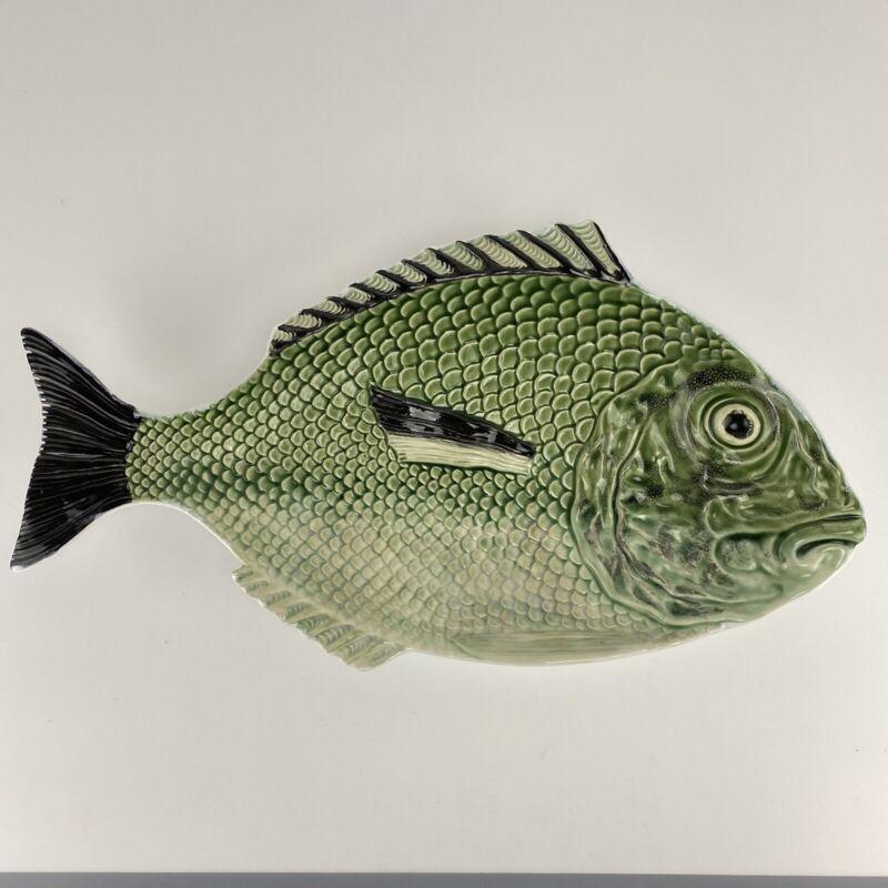 Bordallo Pinheiro Snapper Fish platter Portugal