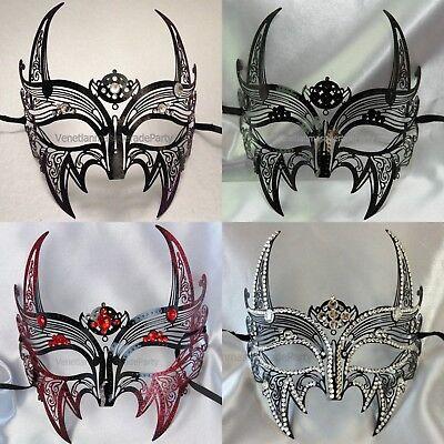 Evil Satan Devil Demon Laser Cut Metal mask Masquerade Ball Costume Scary Party