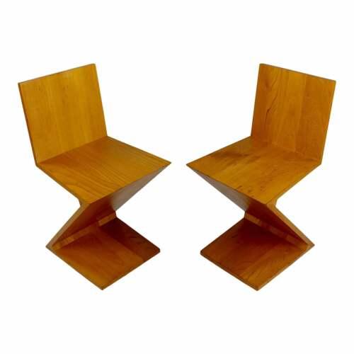 Cassina Original Vintage Zig Zag Chairs - a Pair