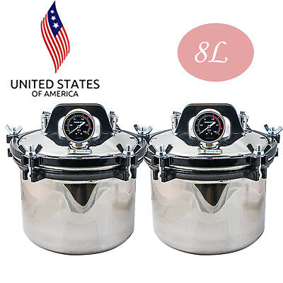 Us Sale 2 8l Pressure Steam Autoclave Sterilizer Dental Medical Sterilization