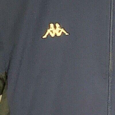 Kappa Retro Vintage Blue Black Trim  Jacket Small Zip 90's Full Sleeve Patch