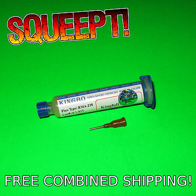 Kingbo Rma-218 Flux Paste Soldering Solder 10cc 10ml Free Combined Usa Shipping