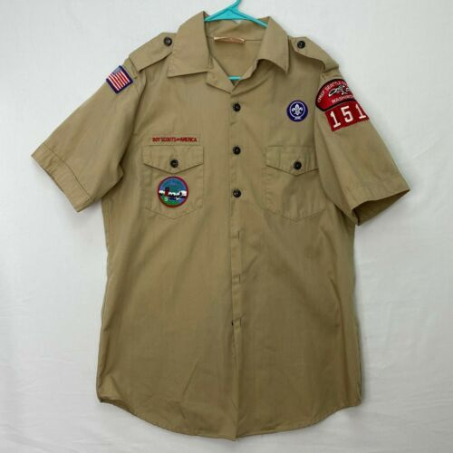 Boy Scouts of America Mens Size Medium Shirt Chief Seattle Council 1510 Vintage