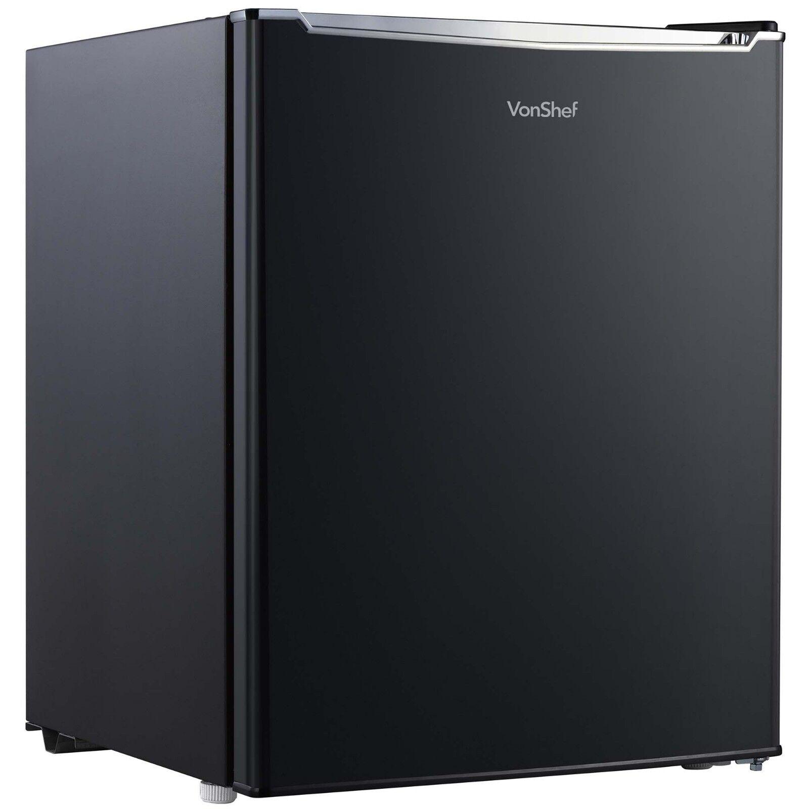 VonShef 75L Kühlschrank mit Gefrierfach Unterbaukühlschrank – Schwarz