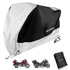 XXXL Black&Silver Motorcycle Cover For Honda Goldwing GL1800 1500 1200 1000 1100