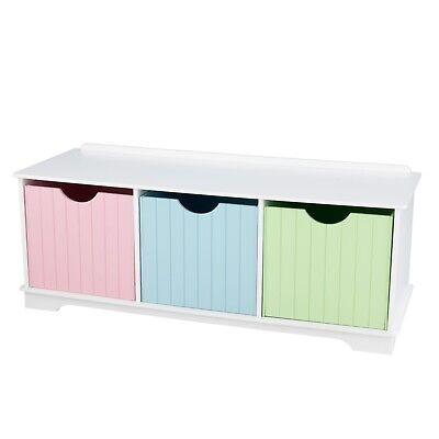 Nantucket Storage Bench with Removable Storage Bins - Pastel by KidKraft