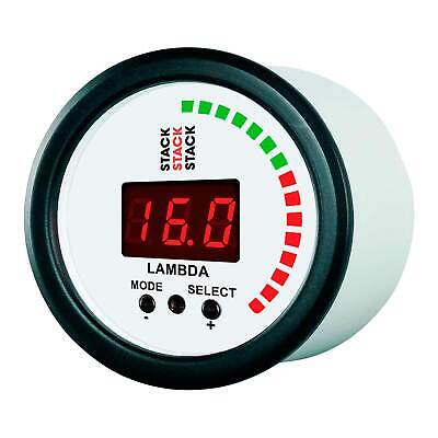 Stack Wideband Lambda AFR Air / Fuel Ratio Gauge / Tuning Aid White Face