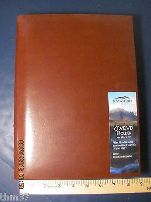 CD DVD  Holder Leather Katahdin Sun Graphix  Brown 48 discs 118CD2 $29.00