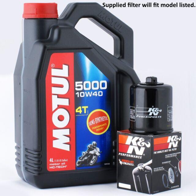 Ducati DS 1200 Multi Strada Pikes Peak 2012 K&N Filter and Motul 5000 Oil Kit