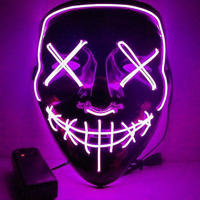 Halloween-Masken-LED leuchten lustige Maske The Purge Wahljahr Großes Festival C