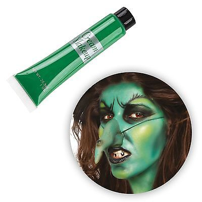 e Up Halloween Witch Zombie Frog Alien Skin Body Face Paint (Green Witch Make-up)