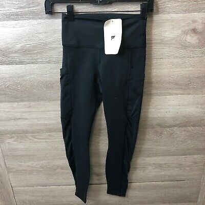 Fabletics Womens Size 2XS 0-2 Mila High Waisted Pocket Legging Black NEW