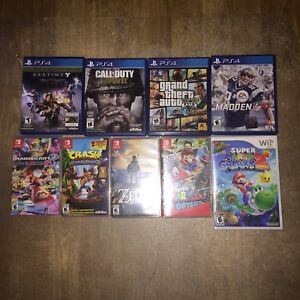GAMES FOR SALE : PS4, NINTENDO SWITCH, WII