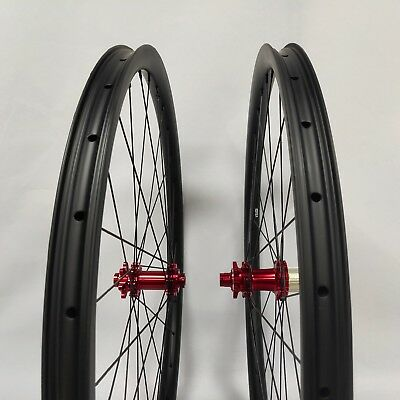 0d2bc7f2b55 29ER carbon fiber bike wheels MTB wheels 33mm width 12*100/12*142 gravel  bike