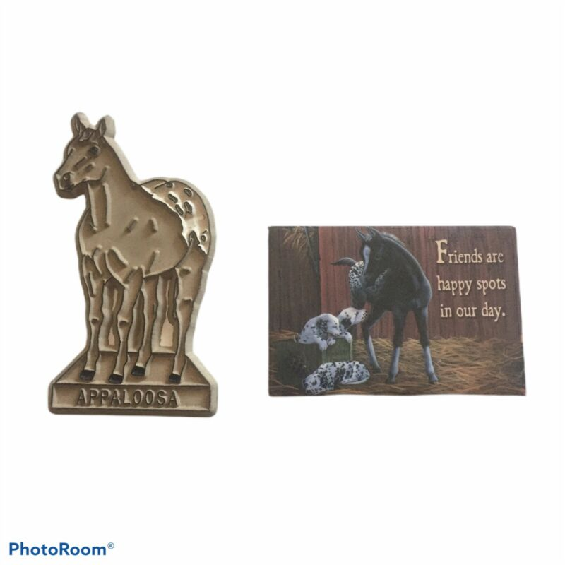 2 APPALOOSA HORSE Magnets Friends Are Happy Spots In Our Day Vintage