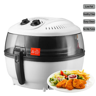 Mecor 7.4qt White Electric Air Fryer Timer Temperature Oil-less Griller Roaster