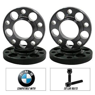 4 BMW 20MM Hub-centric Wheel Spacers E36 E46 323 325 328 330 M3  20 Black Bolts
