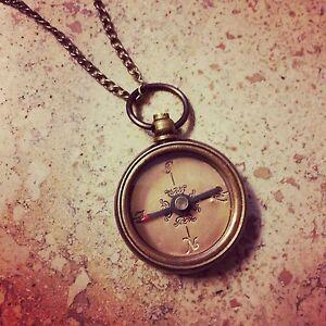 Vintage Compass Necklace   eBay