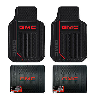 New GMC Elite Series Front  Rear All Weather Rubber Floor Mats Made in USA