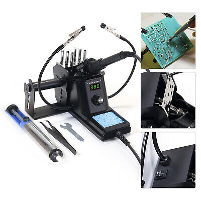 60w Digital Soldering Station Iron Kit Led Display Variable Temperature Pid 110v