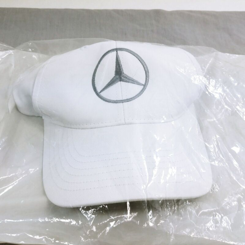 Mercedes Benz Logo Hat Cap Embroidered Silver Embroidered Logo