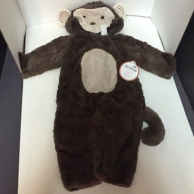 12-24 Months Pottery Barn Kids Baby MONKEY COSTUME Toddler Halloween Fleece NEW ](12 Month Monkey Costume)