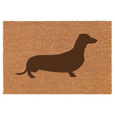 Coir Door Mat Entry Doormat Dachshund ()