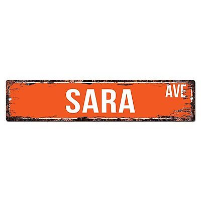 SWNA0084 SARA AVE Street Chic Sign Home Store Shop Wall Decor Birthday Gift](Birthday Decoration Stores)
