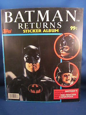 Topps Batman Returns Unused Sticker Album