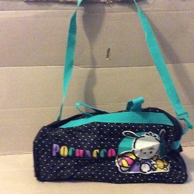 vintage sanrio pochacco 1994 duffle bag with long strap rare