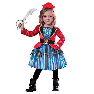 Kinder Mädchen Kleinkind Anker Cutie Piraten Prinzessin Kostüm Kleid Buch Woche (Piraten Prinzessin Kostüm Kleinkind)