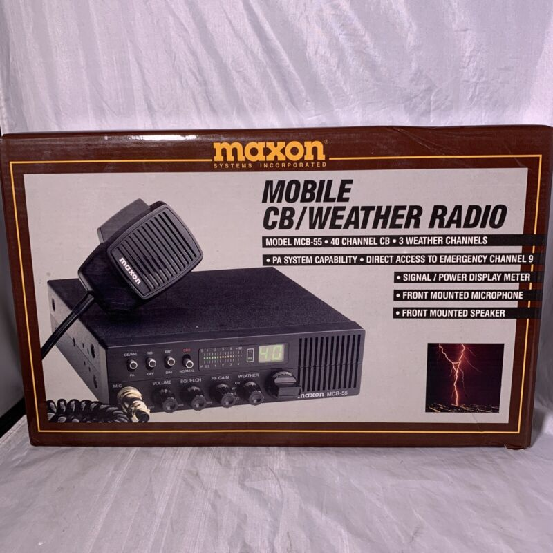 New In Box Maxon Systems Incorporated MCB-55 40 Channel Cb Weather Radio Kit