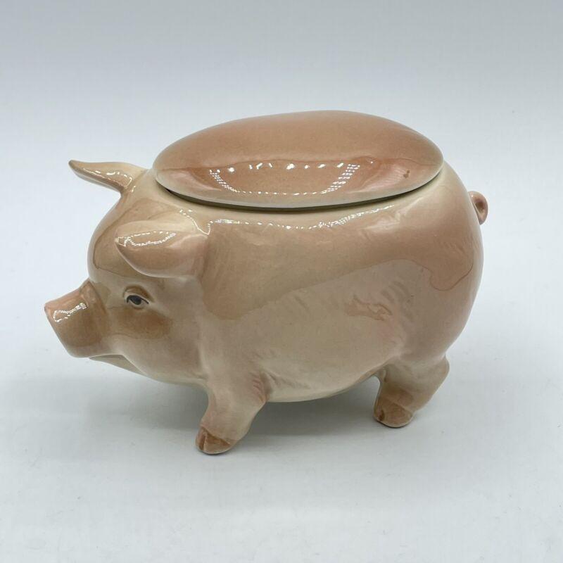 Vintage Ceramic Otagiri Japan 1982 Pig Condiment Jar And Lid