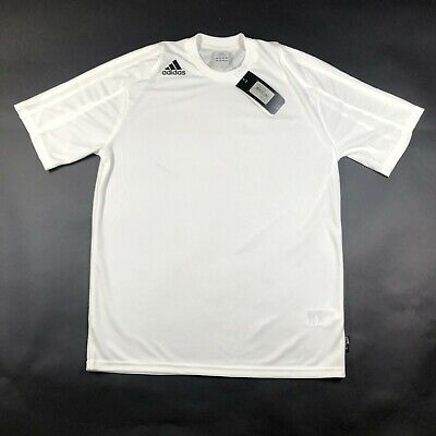 Adidas Performance ClimaLite Mens M Squad II White Crew Neck Jersey Shirt NWT Adidas Climalite Stretch Jersey