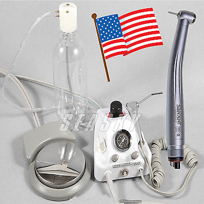 Portable Dental Air Turbine Fit Compressor W 3way Syringe High Speed Handpiece