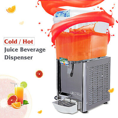 Electric 4.8 Gal Cold Hot Juice Beverage Dispenser Fruit Ice Tea Frozen Drink