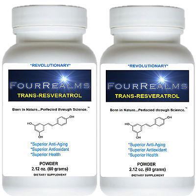 El resveratrol 1000 mg - PURE Lucha contra el envejecimiento | 4 MTH Supply