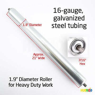 Uline Replacement Gravity Roller Conveyors 21 Wide 1.9 Diameter 716 Hex