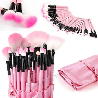 Professional 32 Pcs Kabuki Make Up Brush Set and Cosmetic Brushes Case Bag