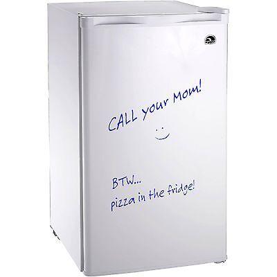 Igloo 3.2 Cu Ft Erase Board Refrigerator / Freezer, White- FR326 - Refurbished