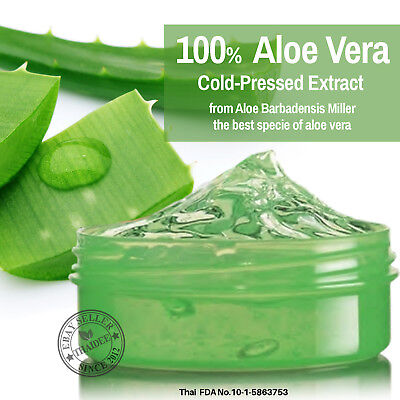 100% Aloe Vera Cold-Pressed Extract Soothing Moisturizing Ge