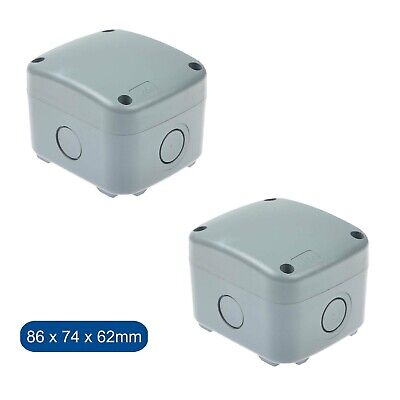 2pk Waterproof Enclosure Case Power Junction Box Underground Cable Protection