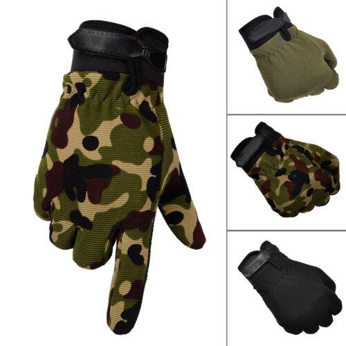 Nuove da uomo Militare Tactical Airsoft TIRO CACCIA intera dito guanti 3 acceso