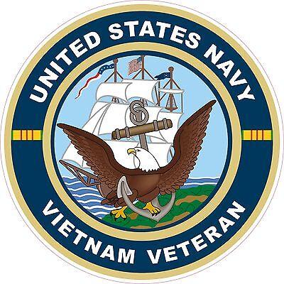 UNITED STATES NAVY Vietnam Veteran  Decal Window Bumper Sticker