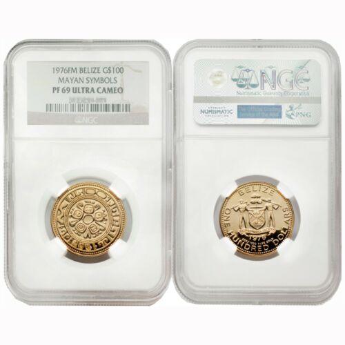 Belize 1976 Mayan Symbols $100 Gold NGC PF69 ULTRA CAMEO SKU# 4731
