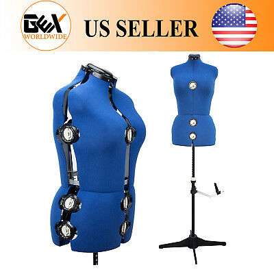 GEX 13 Dials Adjustable Dress Form Sewing Female Mannequin Torso Stand Large ()